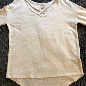 White, Glitter Stripe Sweater